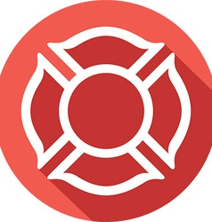 Fire Fighters Maltese Cross Symbol Icon vector image