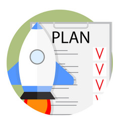 plan start up strategy and tactics vector image vector image
