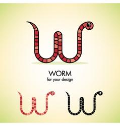worm icon vector image vector image