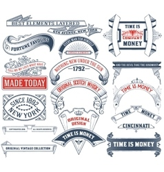 17 labels and banners vector