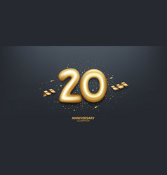 20th year anniversary background vector
