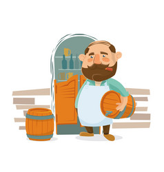 a businessman in the store vector image