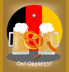 a picture for the german holiday oktoberfest vector image
