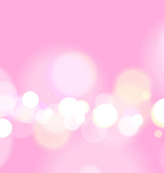 Abstract bokeh light on pink background vector