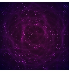 Abstract space with purple and violet stars vector image
