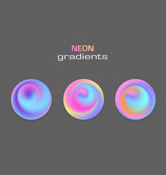 Abstract sphere neon colors gradients isolated vector