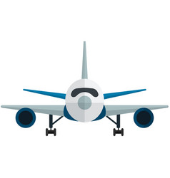 Airplane front view isolated on white vector