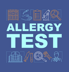 Allergy test word concepts banner allergic vector