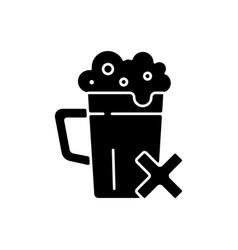 Avoid alcohol black glyph icon vector