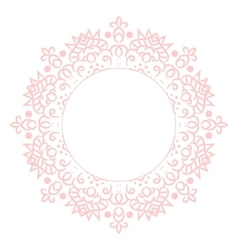 Baby pink mandala circle rosette card template vector