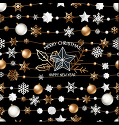 background with christmas logo vector image