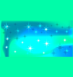 background with northern lights and stars vector image