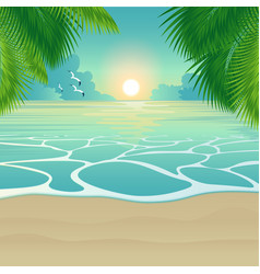 bay tropical beach background vector image