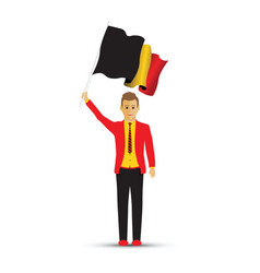 belgium man waving a flag vector image