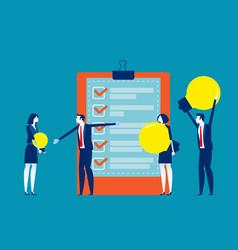 best business ideas concept business vector image