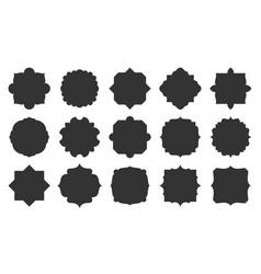 black label geometric shape silhouette frame set vector image