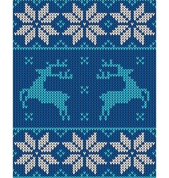 blue and white christmas jumper vector image