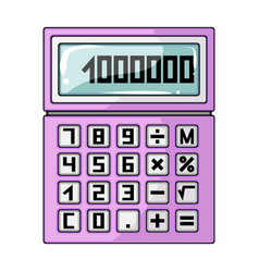 calculatorrealtor single icon in cartoon style vector image