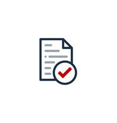 Check document logo icon design vector