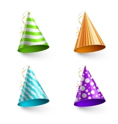 child party hats isolated on transparent vector image vector image
