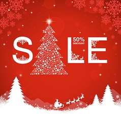 Christmas Sale Discount vector image