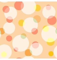 Circle and polka dot pastel seamless pattern vector