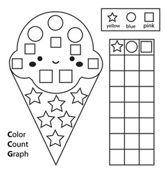 color count and graph educational children game vector image