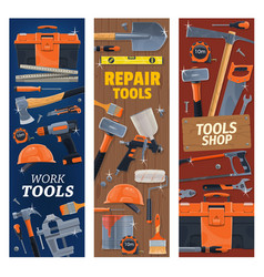 Construction house repair and diy tools vector
