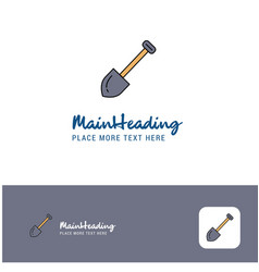 creative spade logo design flat color logo place vector image