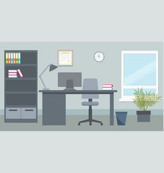 design of office environment vector image