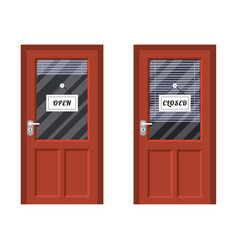 door marked open and closed vector image