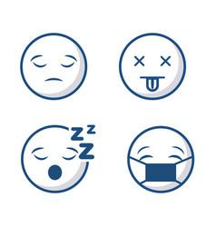 Emoticons faces icon vector
