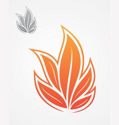 flame leaf vector image