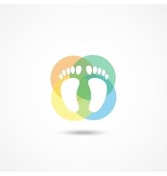 Foot icon vector image vector image
