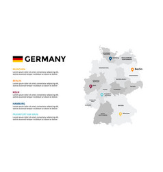 germany map infographic template slide vector image