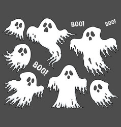 Ghosts thematic set 7 vector