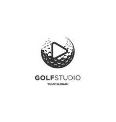 golf studio vector image