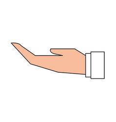 Hand flat vector
