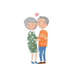 happy senior couple in love cartoon vector image