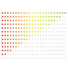 Horizontal progress level indicators vector