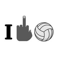 i hate volleyball symbol of hatred and ball vector image