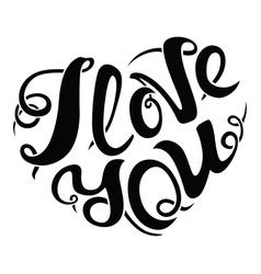 I love you lettering composition vector image