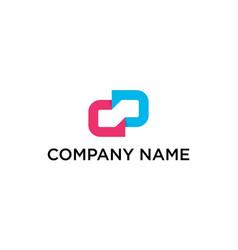 initial letter cd dc logo design vector image