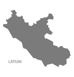latium italy map grey vector image