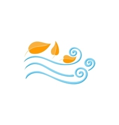 Leaves spinning in the wind icon cartoon style vector image