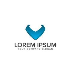 letter v logo internet technology logo design vector image