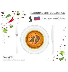 Liechtenstein cuisine european national dish vector