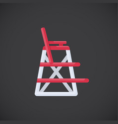 lifeguard chair flat icon vector image