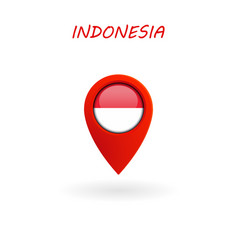 location icon for indonesia flag vector image