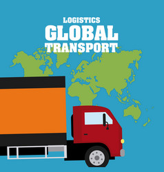 logistic global transport concept vector image
